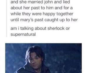 sherlock, supernatural, and funny image