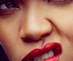 rihanna, lips, and red image