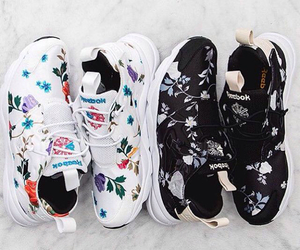 black, floral, and lifestyle image