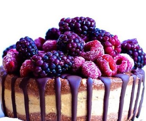 food, cake, and FRUiTS image