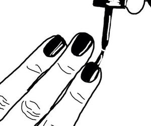 nails, black, and drawing image