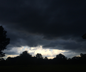 clouds, dark, and feeling image