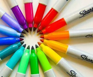 colors, rainbow, and Sharpie image