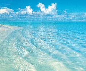 blue, beach, and sky image
