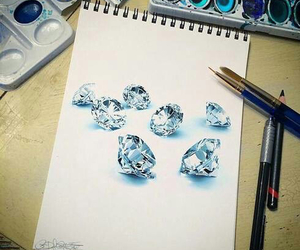 art, diamonds, and draw image