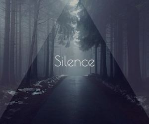 silence, forest, and dark image