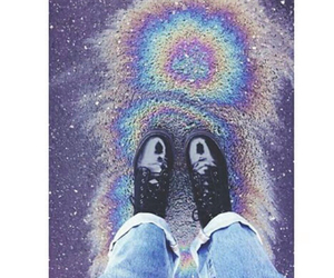 grunge, rainbow, and boots image