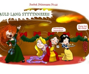 pocket princesses, disney, and princess image