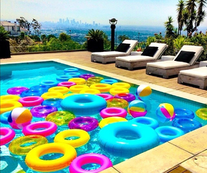colors, donuts, and pool image