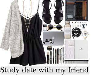black, fashion, and friend image