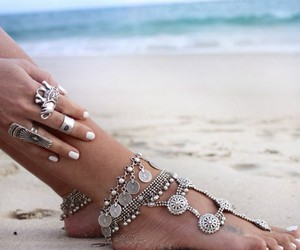 beach, summer, and boho image