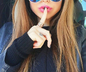 sunglasses, girl, and hair image