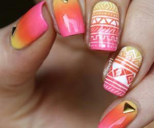 gradient, nail, and nail art image