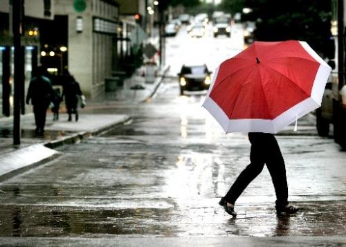 colors, rain, and umbrella image