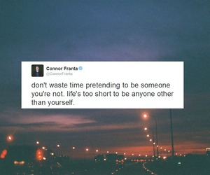 connor franta, quote, and tweet image
