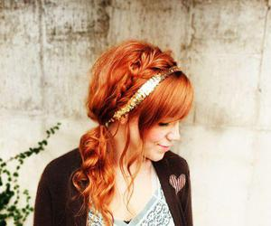 hair, braid, and red hair image