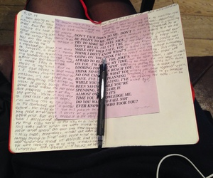 book, text, and diary image