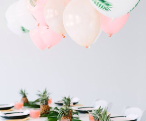 party, pink, and balloons image