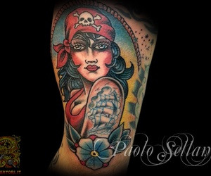 ink, oldschool, and tattoo image