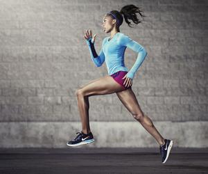 fashion, running, and nike image
