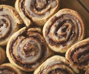 food, cinnamon roll, and sweet image