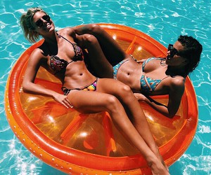 float, girls, and Hot image