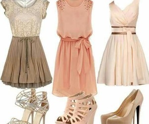 brown, dress, and Nude image