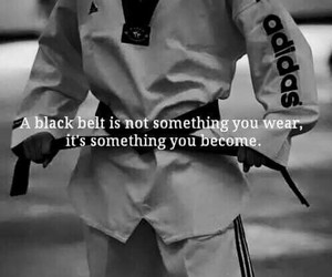 taekwondo, black belt, and sport image