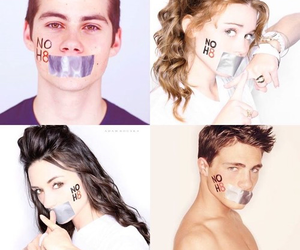 colton haynes, holland roden, and dylan o´brien image