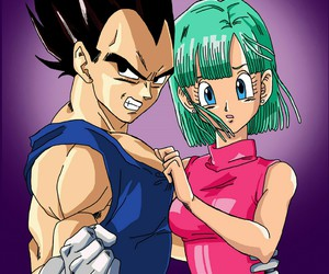 anime, couple, and bulma image
