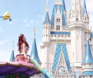ariel, disney, and castle image