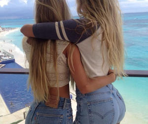 blonde, girls, and best friends image