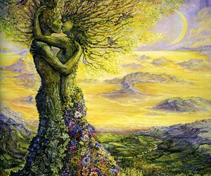 couple, nature, and tree image