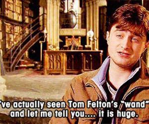 harry potter, tom felton, and wand image