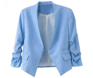 jacket, girl, and blazer image