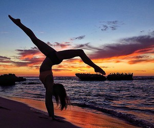 girl, sea, and dance image