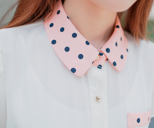 fashion, girl, and collar image