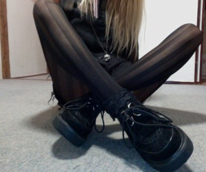black, creepers, and long legs image