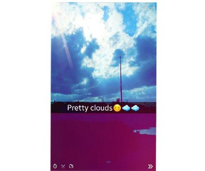 pretty nature clouds image