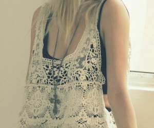 beautiful, girl, and lace image