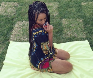 black girl, casual, and green image