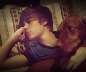 justin bieber and dog image