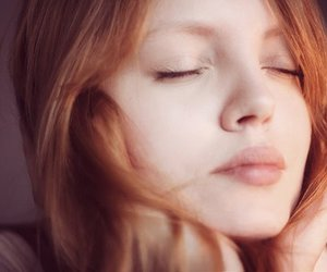 girl, redhead, and lips image
