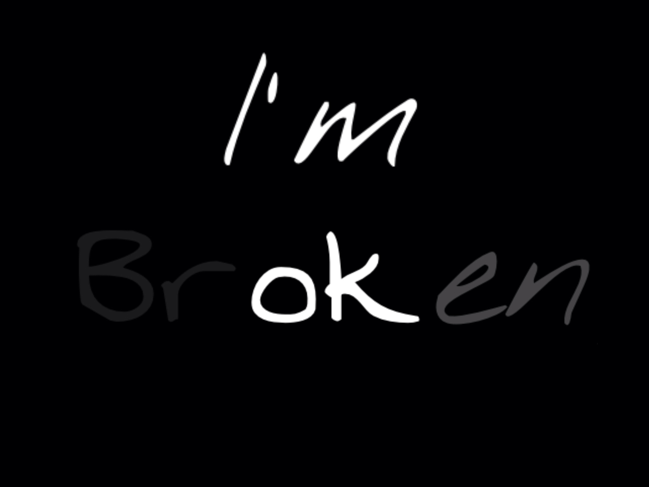 I'm brOKen shared by Emma Huijgen on We Heart It