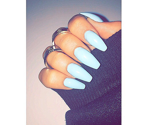 blue, nails, and cartier love image