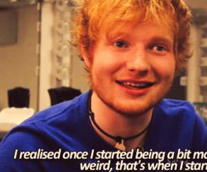 ed sheeran and quote image