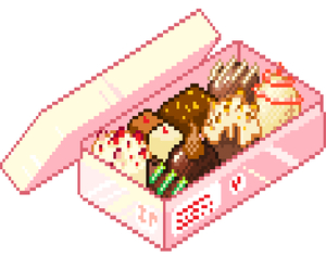 food, pixel, and kawaii image