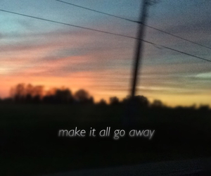 grunge, quotes, and sunset image