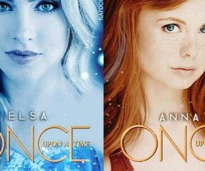 once upon a time, anna, and elsa image