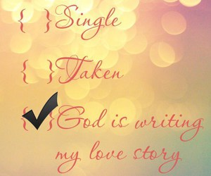 god, love, and single image